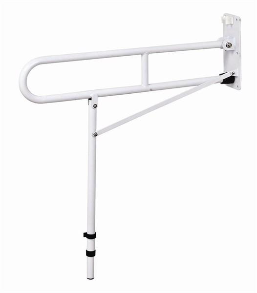 G300 Drop down grab rail with supporting leg