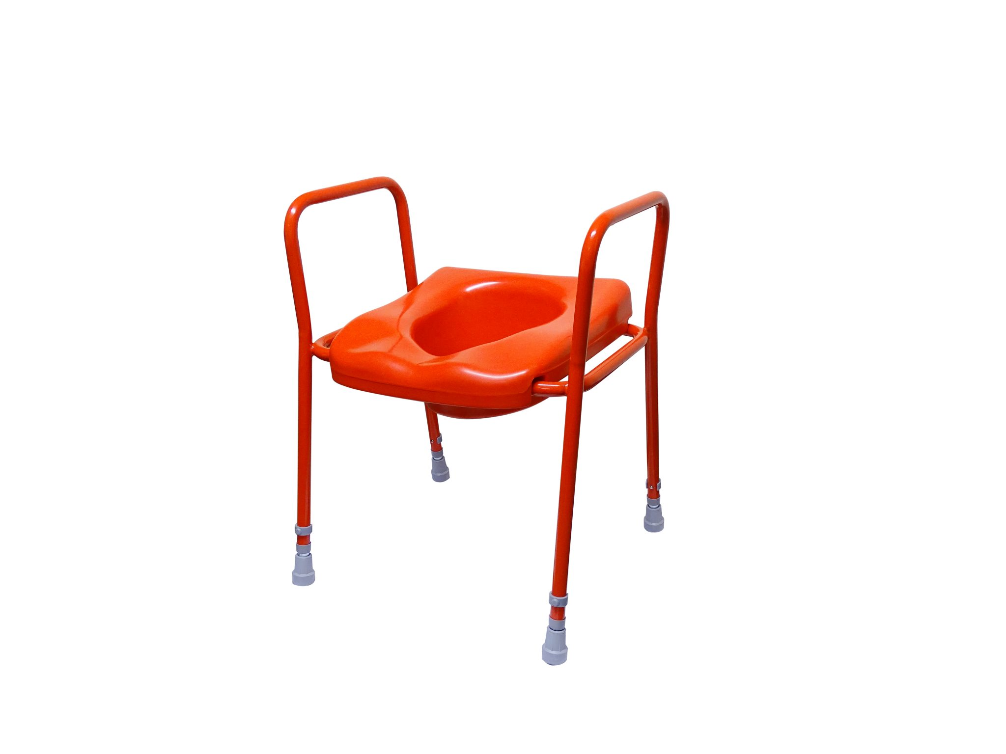 T87R Raised Toilet Seat Frame with fort Seat Red Cefndy