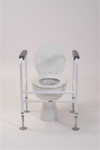 white toilet surround around white toilet