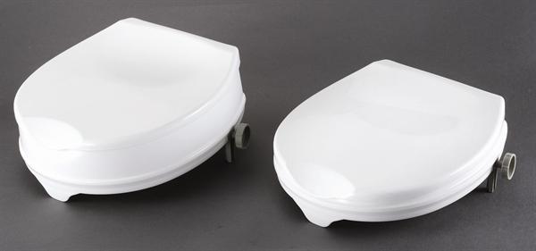 Peachy Rts04111L Deluxe Lidded Raised Toilet Seat 100Mm 4 Evergreenethics Interior Chair Design Evergreenethicsorg