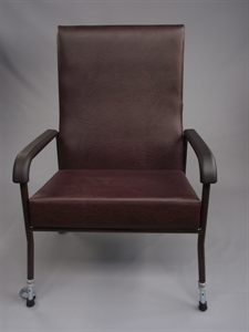 brown high backed chair