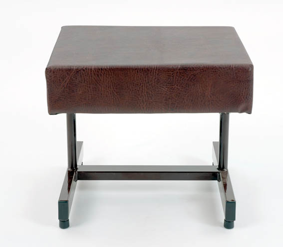 foot stool with brown top