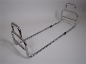 Chrome bed rail with looped handles