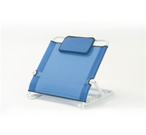 blue back rest with head support