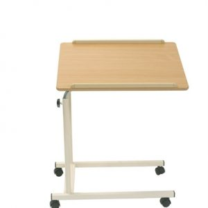 mobile table from Cefndy Healthcare UK. High quality table that provides the ultimate in versatility
