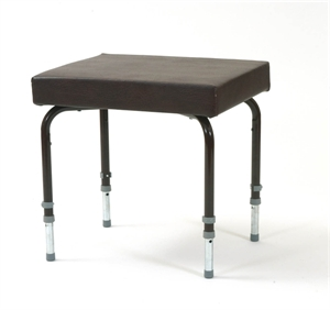 Brown framed footstool with 4 legs