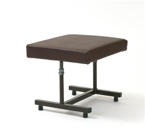 Brown H frame footstool
