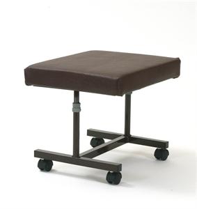 Mobile Brown H frame footstool