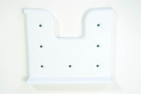 white plastic shower seat
