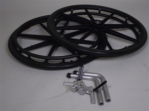wheel kit for shower commode chair