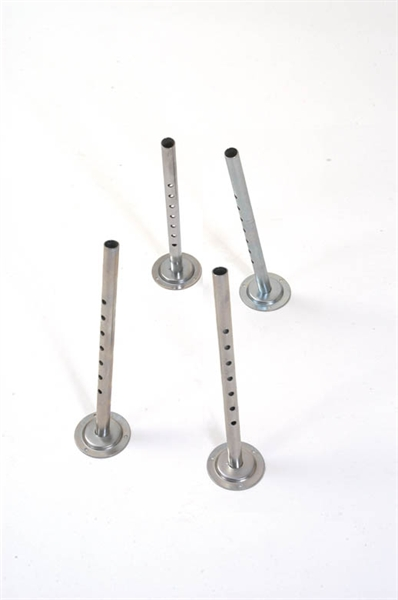 4 metal extension legs with round bases