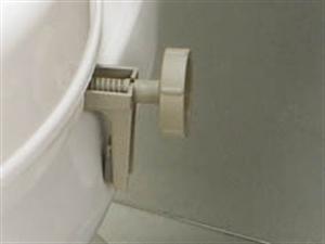 grey adjustment screw bracket for raised toilet seat