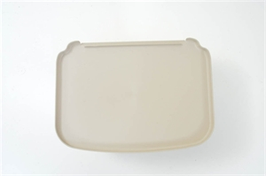 brown trolley tray