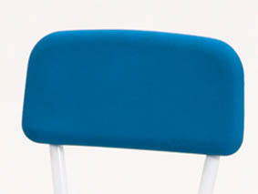 blue pu chair back