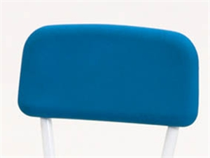 blue pu chair back