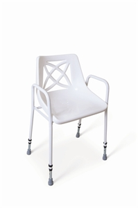 White shower chair