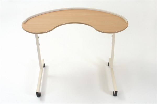 B265 Kidney Table with lockable castors