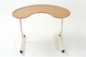 Table with beech top and cream frame