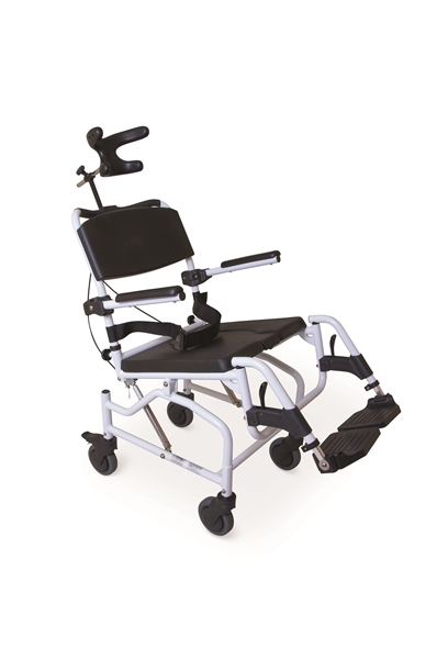 Tilt in Space Toileting & Shower Chair from Cefndy Healthcare. Buy the T220 Toilet and Showering chair today. UK Based