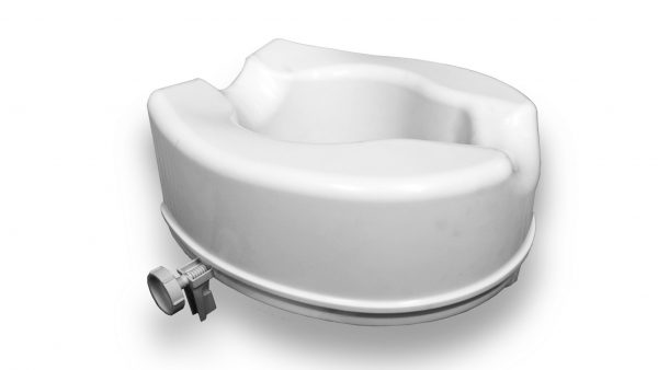 White raised toilet seat