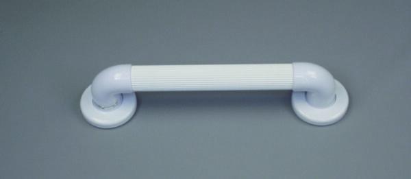 white grab rail on grey background