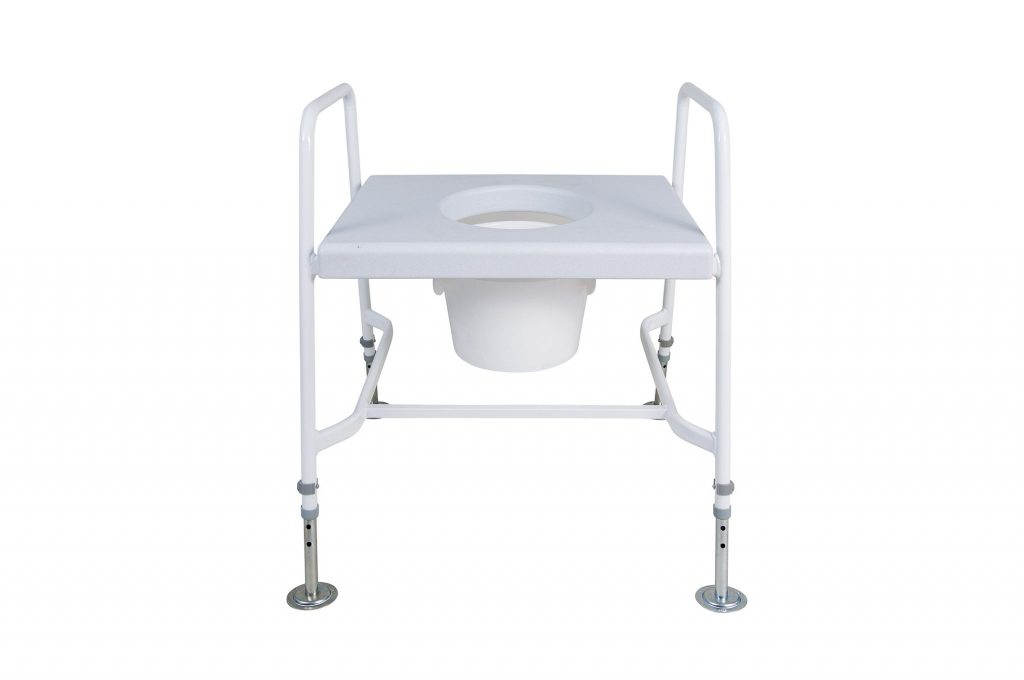 M153 Mediatric Raised Toilet Seat With Floor Fixing Feet