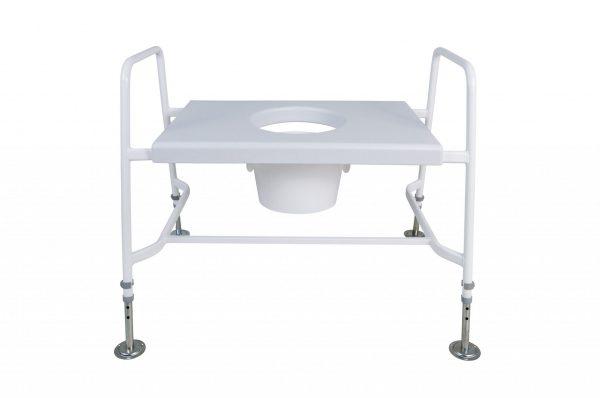 white raised toilet seat