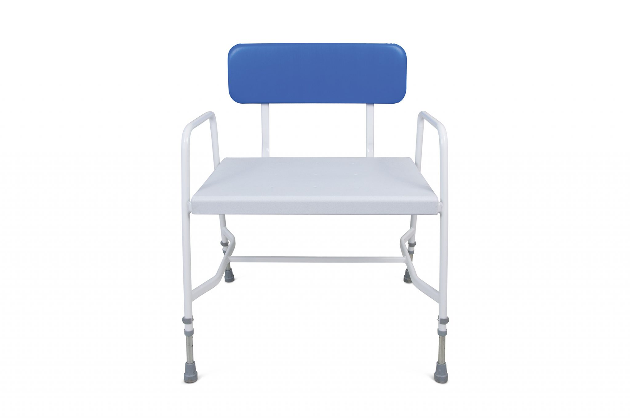 with s health chair rotating product padded care wheels shower drive seat stool lambert blue