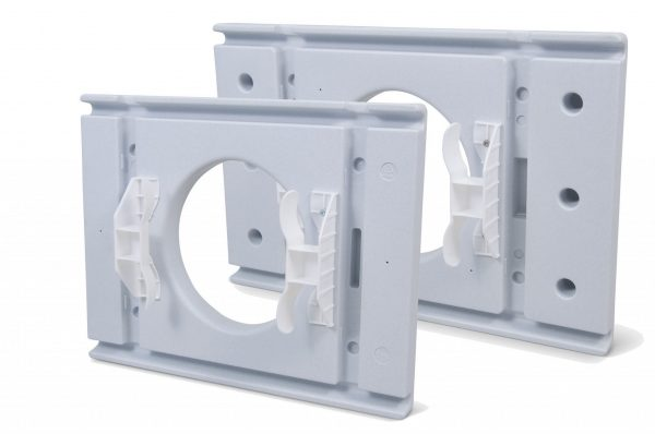underside of commode seats in white
