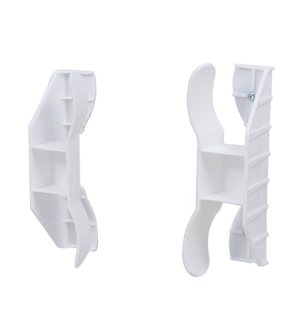 white plastic pan holders