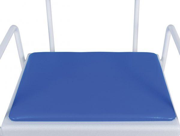 Blue vinyl seat
