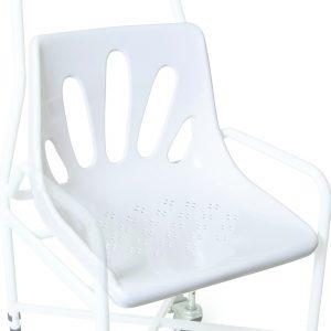 white shower chair seat
