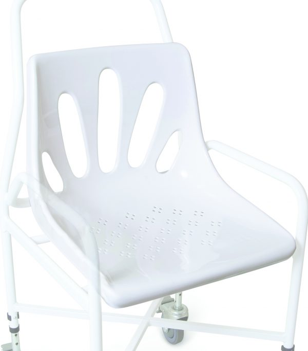 white shower chair seat